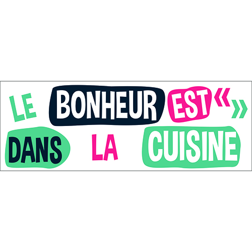 Sticker autocollant bonheur vie ambiance pour décoration de cuisine