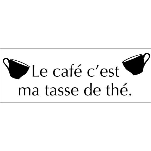 Sticker adhésif café tasse thé pour déco de cuisine design