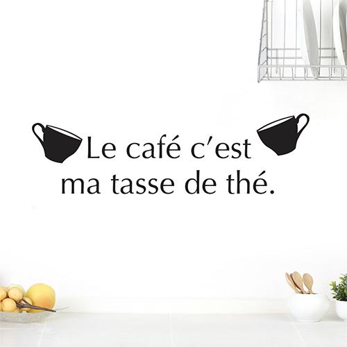 Sticker tasse de thé ambiance épurée
