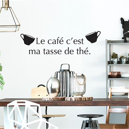 Sticker cuisine citation tasse de thé