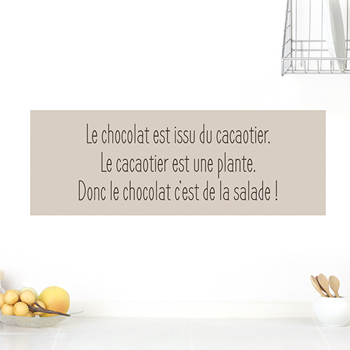 Sticker citation gourmandise chocolat