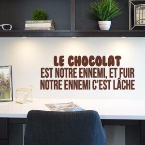 Sticker praliné citation humour chocolat