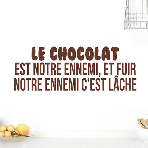 Sticker citation humoristique chocolat