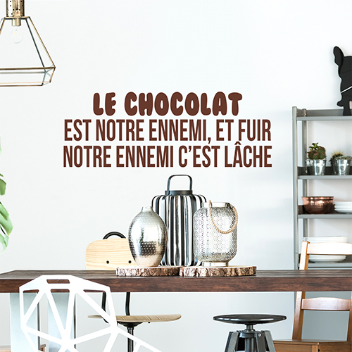 Sticker citation cuisine et chocolat