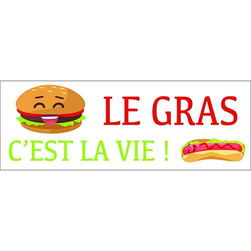 Sticker aucollant déco d'intérieur pour cuisine citation love hamburger
