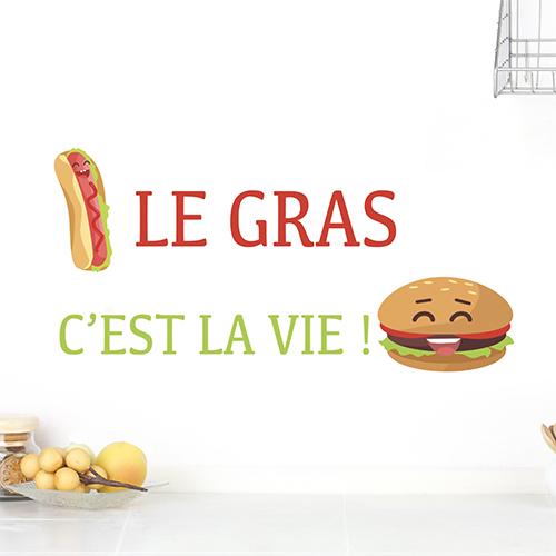 Sticker pour cuisine avec hamburger et hot-dog