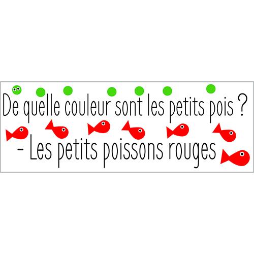 Sticker autocollant pour déco cuisine citation blague sur les poissons rouges