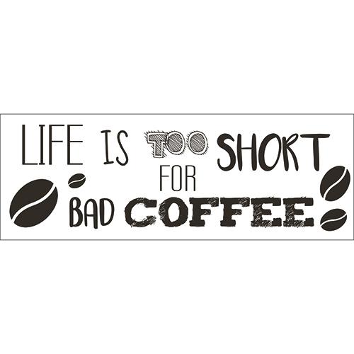Sticker autocollant déco pour cuisine citation humour design café vie