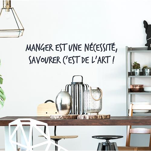Sticker citation humour cuisine et salle à manger