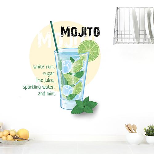 Autocollant mural recette du mojito