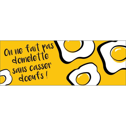 Sticker autocollant cuisine citation