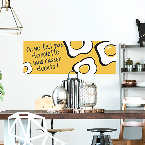 Autocollant mural pour cuisine