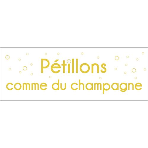 Sticker adhésif cuisine citation deco champagne design amusant