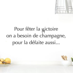 Autocollant champagne gris pour décoration de cuisine