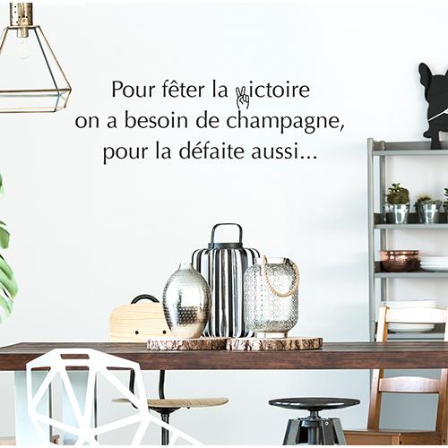 Adhésif décoration de salle à manger sur le champagne gris