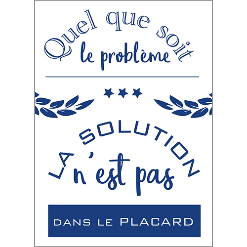 Sticker autocollant cuisine citation placard gris décoration mural