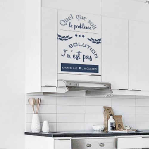 Sticker citation pour placard de cuisine