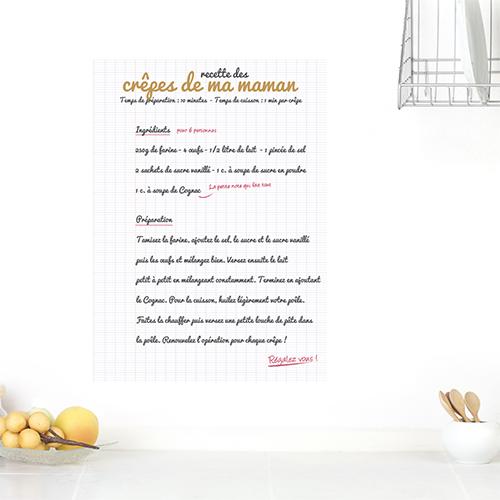Autocollant mur de cuisine recette chandeleur