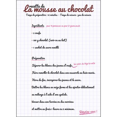 Sticker autocollant déco texte mousse au chocolat mural pour cuisine