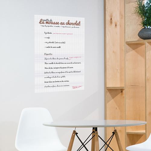 Autocollant sticker affiche adhésive mousse au chocolat pour salle à manger