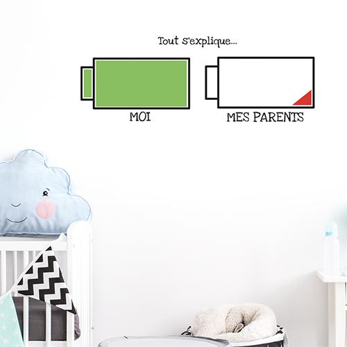 Autocollant pour chambre d'enfant décoration batteries