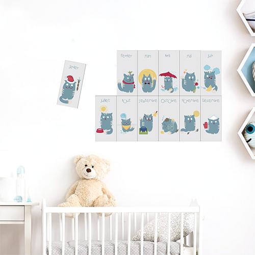 Adhésif sticker pour chambre d'enfant citation déco calendrier
