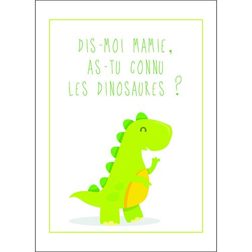 Sticker autocollant décoration d'intérieur dinosaure vert clair chambre enfant
