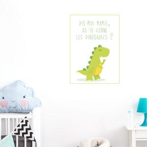 Autocollant déco chambre d'enfant dinosaure vert clair