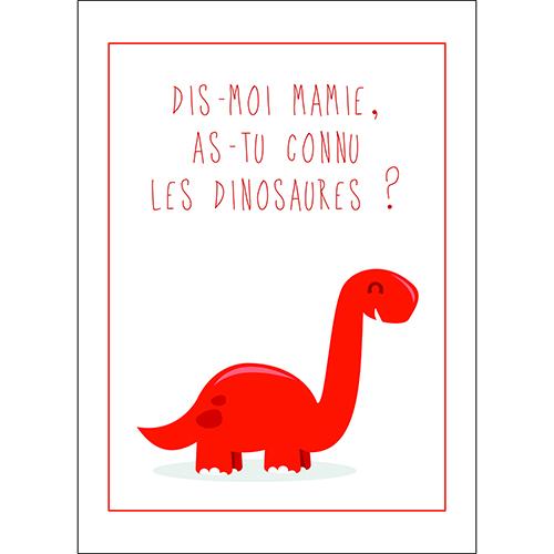 Sticker adhésif dinosaure rouge pour décoration chambre enfant citation texte