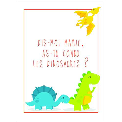 Sticker autocollant déco multicouleurs pour chambre d'enfant citation texte dinosaure