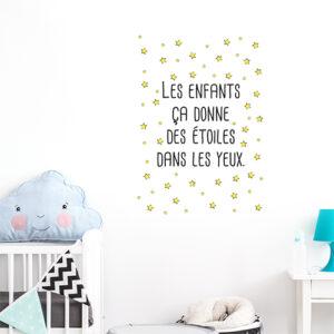 Adhésif affiche adhésive étoiles pour déco de chambre d'enfant