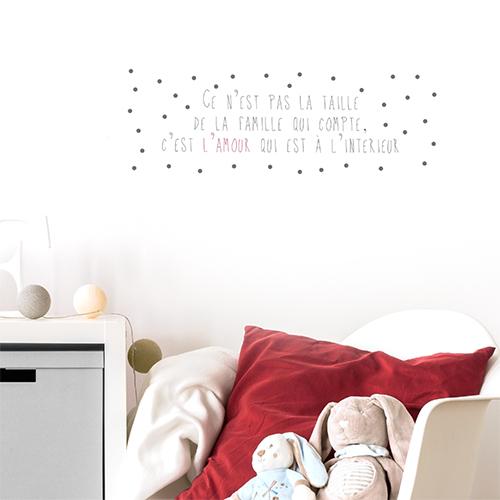 Autocollant sur la famille et l'amour citation pour décoration de chambre d'enfant