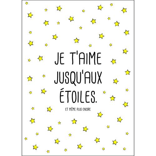 Sticker autocollant citation d'amour