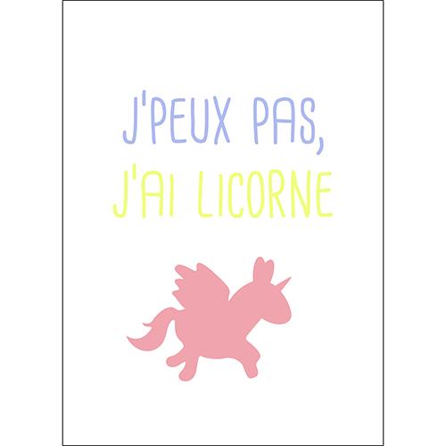 Sticker adhésif deco licorne muticouleurs pour chambre d'enfant