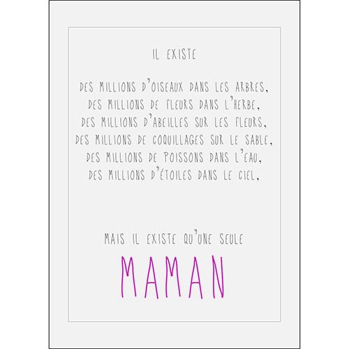 Sticker adhésif décoration d'intérieur citation amour pour maman
