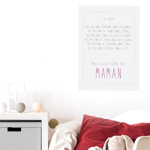 Autocollant décoration de chambre d'enfant citation amour pour maman