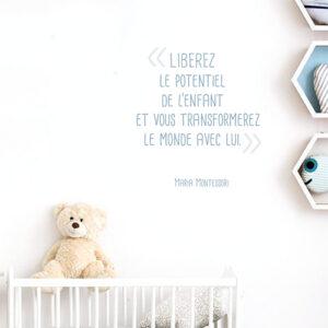 Autocollant sticker enfant et vie pour déco chambre d'enfant
