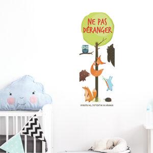 """Autocollant citation """"ne pas déranger"""" enfant et animaux pour déco de chambre d'enfant"""