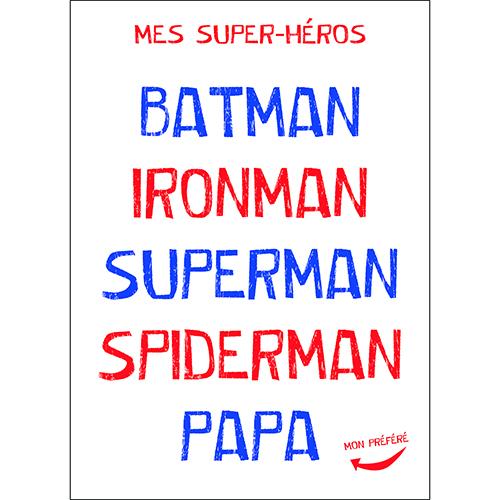 Sticker adhésif citation superhéros papa pour décoration chambre d'enfant