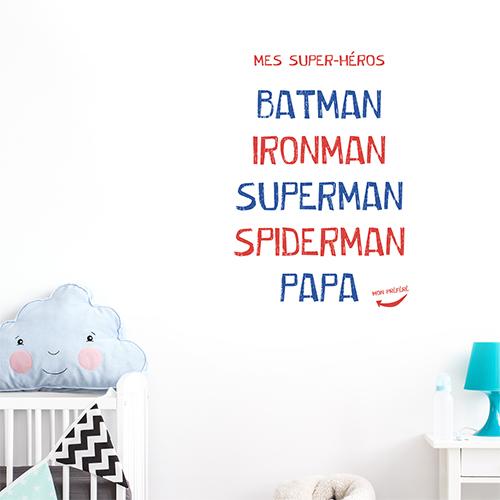 Sticker autocollant Batman Ironman dans une chambre de bébé