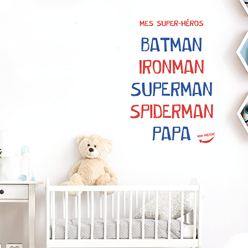 Sticker mural Batman dans une chambre de bébé