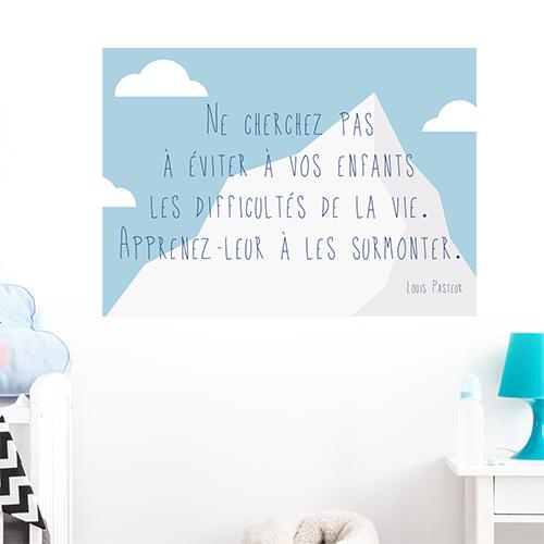 Adhésif affiche sur la vie et les enfants décoration chambre d'enfant