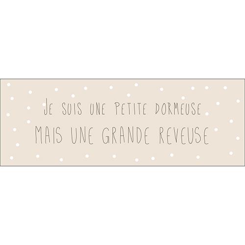 Sticker adhésif citation pour deco de chambre d'enfant princesse