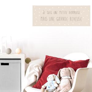 Adhésif affiche rectangulaire citation princesse pour décoration de chambre d'enfant