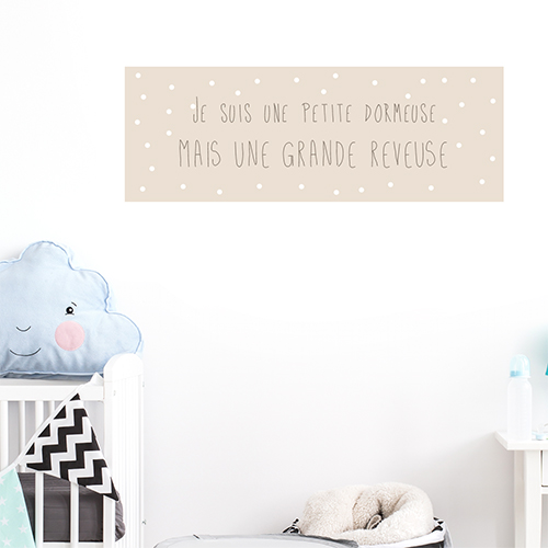 Autocollant affiche princesse citation texte pour deco de chambre d'enfant