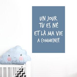 Autocollant pour chambre de bébé citation amour decoration pour mur