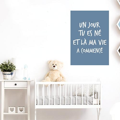 Adhésif affiche citation amour deco pour chambre d'enfant