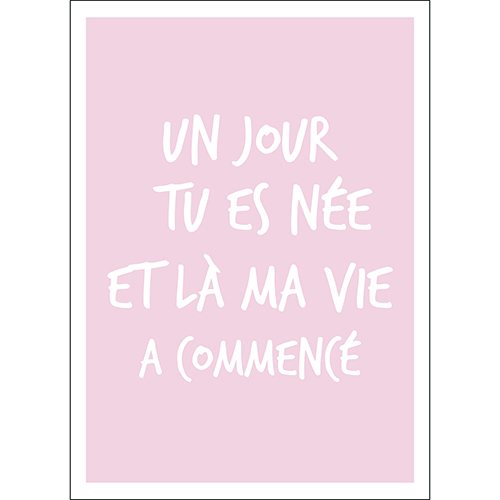 Sticker autocollant decoration murale citation amour pour enfant