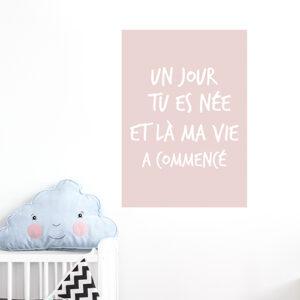 Autocollant rose citation amour decoration murale pour chambre d'enfant