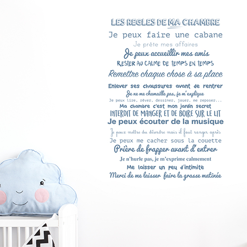 Autocollant décoration pour chambre d'enfant
